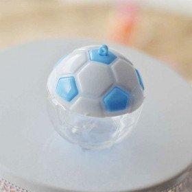 Boite dragée ballon foot bleu et blanc