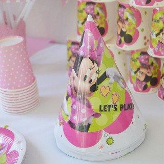 Chapeaux anniversaire Minnie x6