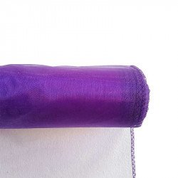 Chemin de table organza violet
