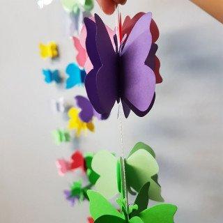 Guirlande papier papillon multicolor