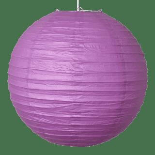 Boule Lampion papier parme 40cm