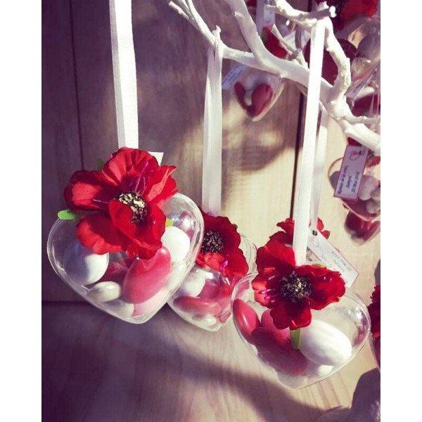 Fleur Dragee Rouge