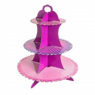 Support  cupcake carton motifs fushia