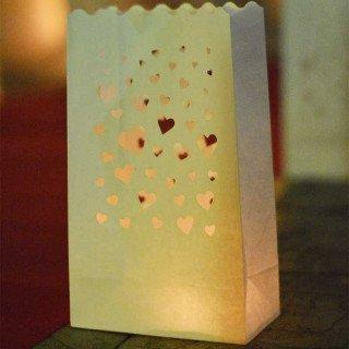 Sachet lanterne papier X10