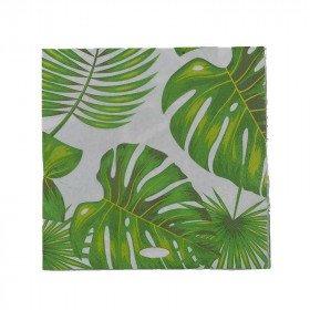 Serviettes feuilles tropicales