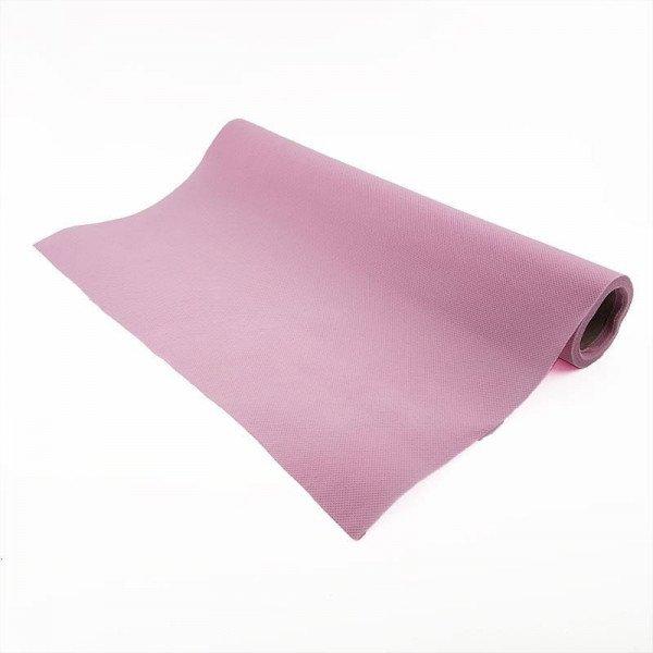 Chemin de table rose clair effet tissus (5m)