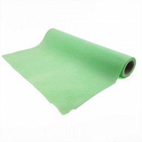 Chemin de table vert d'eau effet tissus (5m)