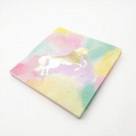 Serviettes licorne doré