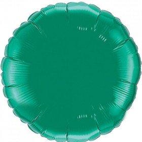 Ballon mylar rond vert foncé 45cm