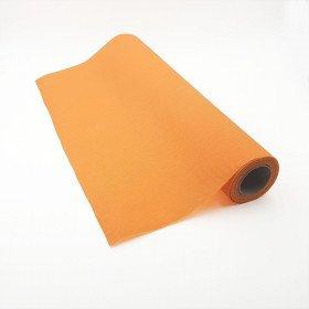 Chemin de table orange effet tissus (5m)