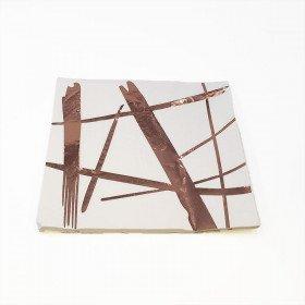 Serviette papier motif rose gold x16