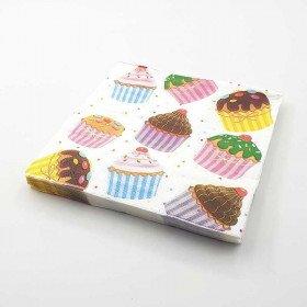 Serviette papier cupcake x20