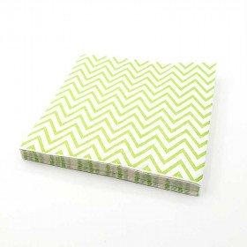 Serviette papier chevron vert  x20