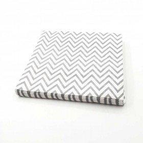 Serviette papier chevron gris x20