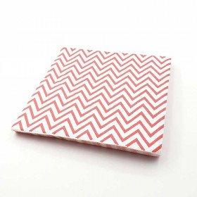 Serviette papier chevron rouge x20