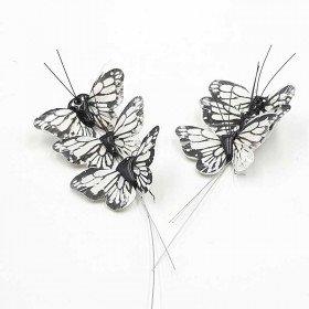 Papillon blanc sur tige