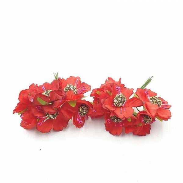 mini fleur rouge coeur noir sur tigex12