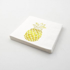 Serviette papier ananas or x20