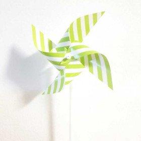 Moulin à vent deco vert