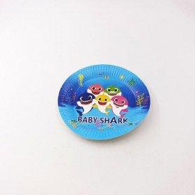 10 petites assiettes Baby shark