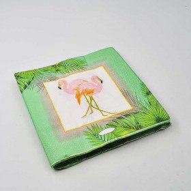 Serviette papier Flamant rose x20
