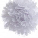 Pompon Fleur Papier de Soie blanc 35cm