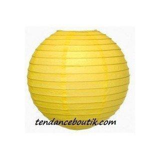 Boule Lampion papier jaune 40cm