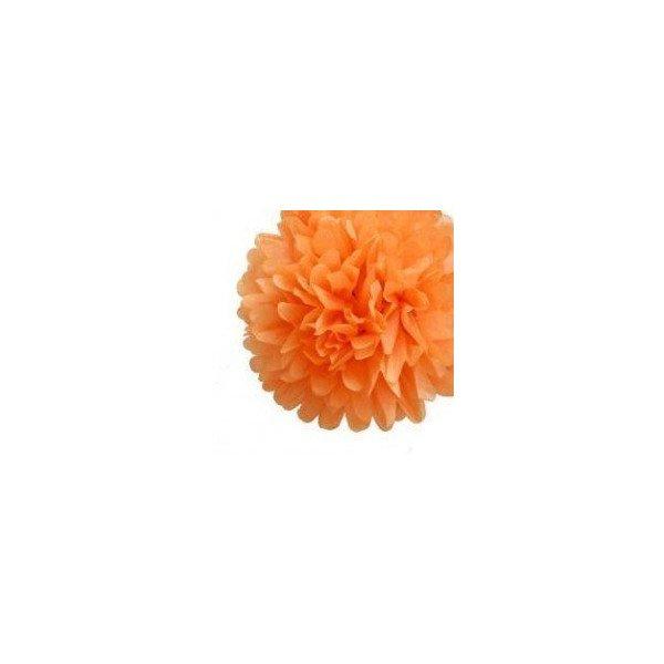pompon en papier orange 20cm. Black Bedroom Furniture Sets. Home Design Ideas