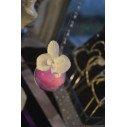 Fleuron d'orchidée blanche sur tige X12