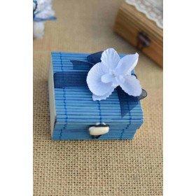 Boite dragee bambou bleu