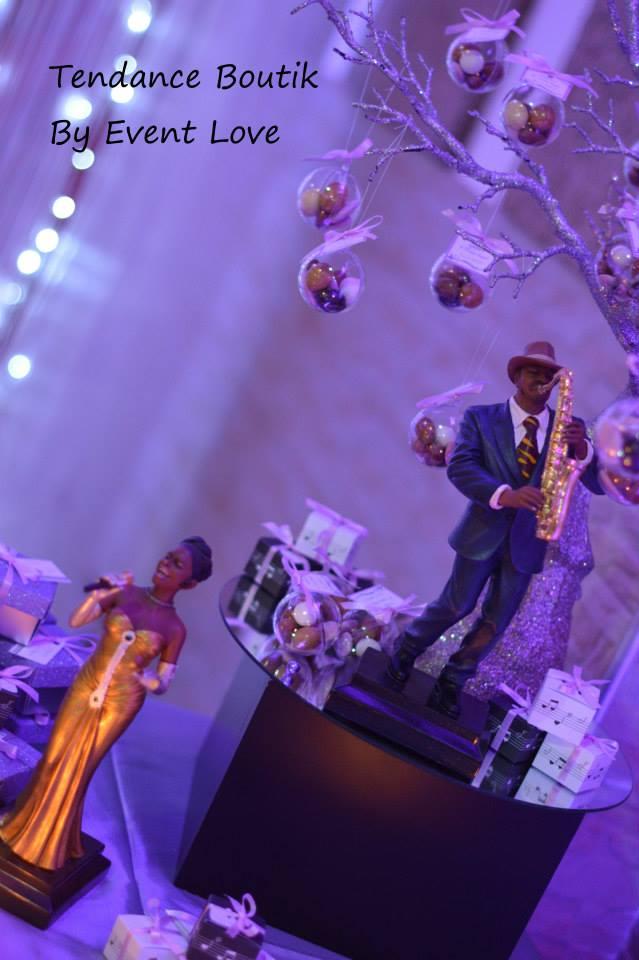 mariage th 232 me musique parme et gris detendance boutik vente d articles de decoration de