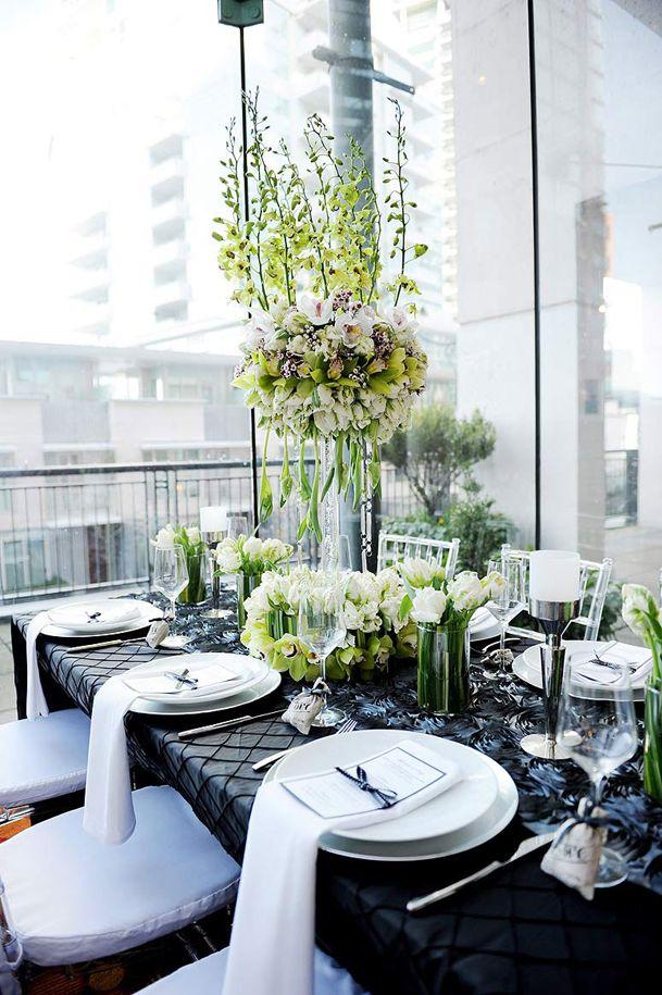 Deco table mariage vert noir blog detendance boutik vente d 39 articles de decoration de mariage - Idee deco table ...