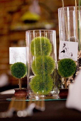 Idée de décoration salle mariage vert detendance