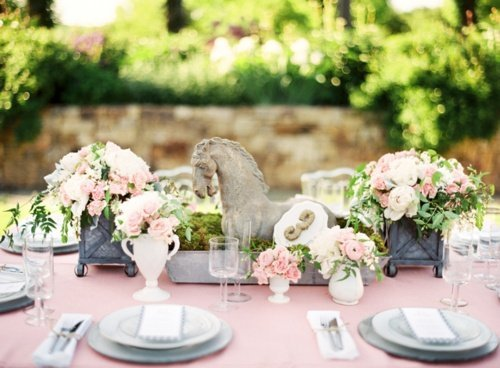 decoration table mariage vintage