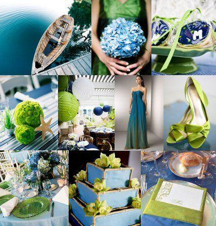 Idée de décoration de salle mariage vert: