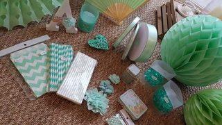 decoration mariage vert d eau