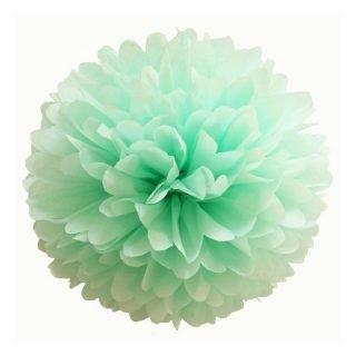 pompon papier vert d eau