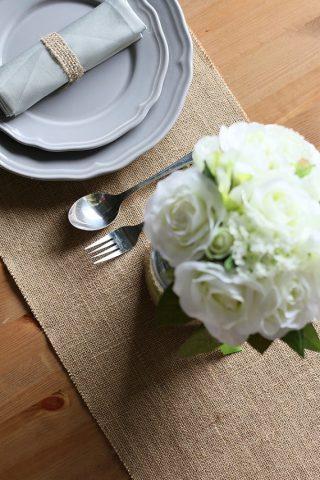 décoration de table au style champêtre