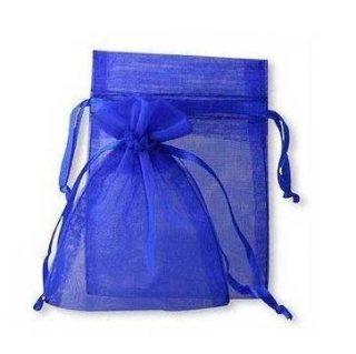 sachet en organza bleu pour dragées