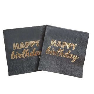 serviette en papier happy birthday