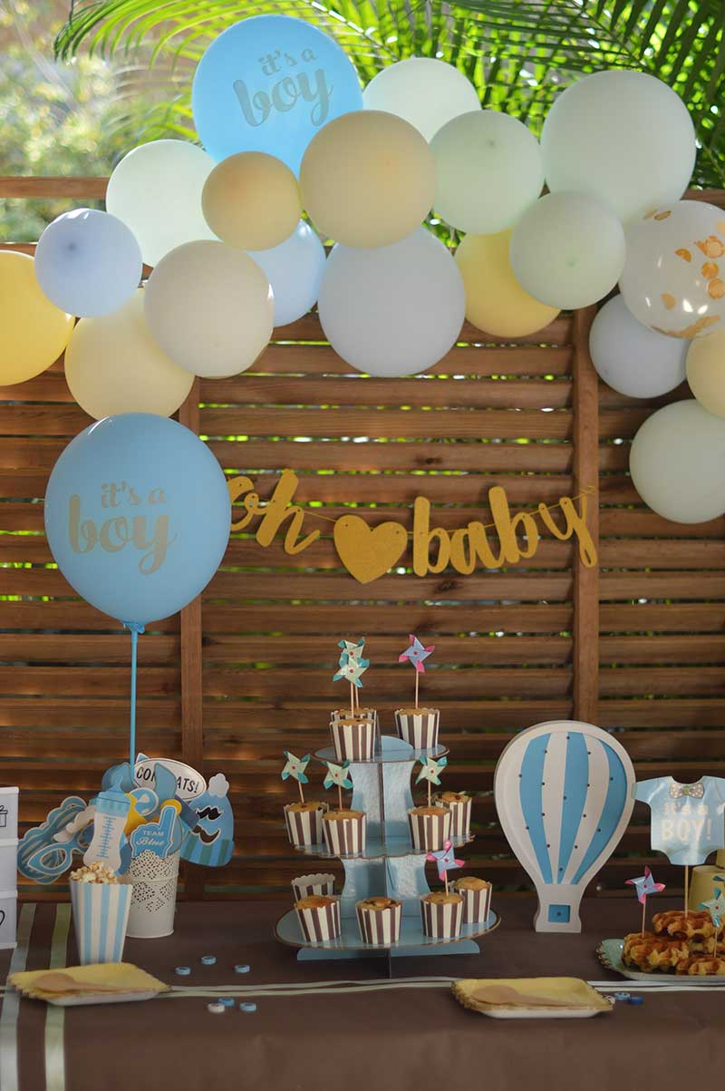 decoration baby shower garcon