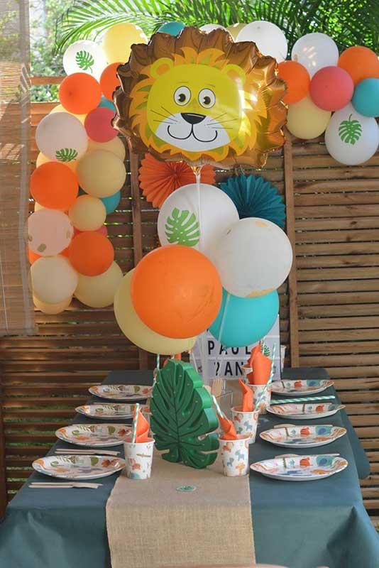 ballon anniversaire jungle