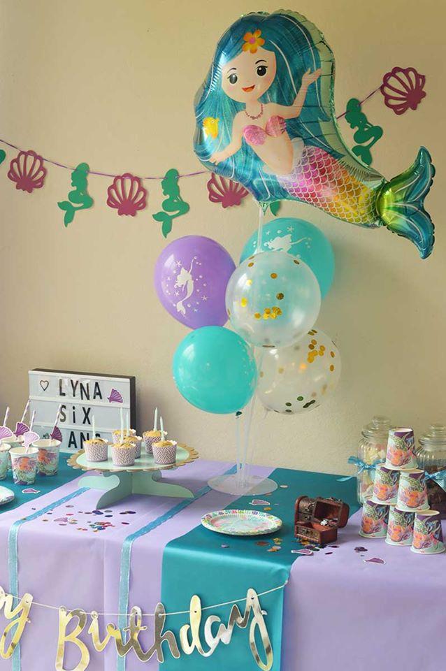 decoration anniversaire sirene