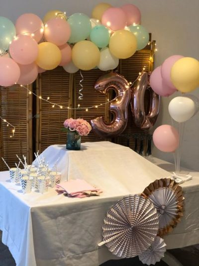decoration anniversaire pastel