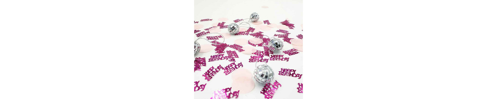 Confettis anniversaire,perles de pluie