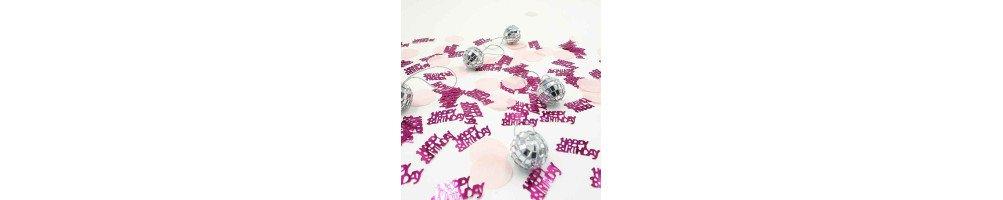 Confettis de table et perles de pluie