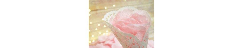 Pétales de rose pour mariage