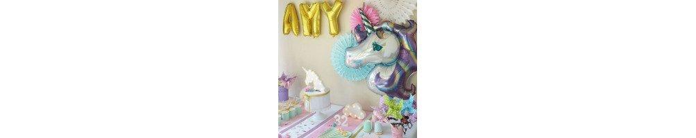 Décoration anniversaire thème licorne