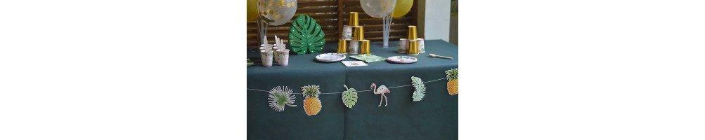 Décoration anniversaire thème tropical