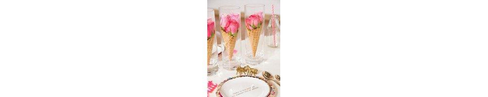Vases et centre de table mariage